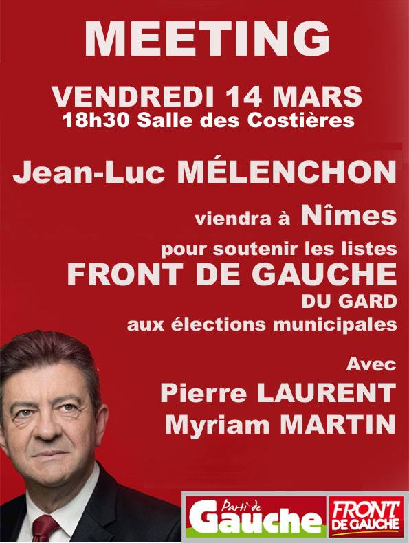 Jean-Luc Mélenchon à Nîmes