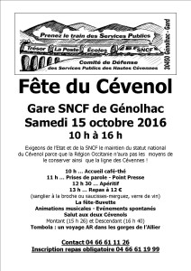 Fête du Cévenol 15 octobre 2016